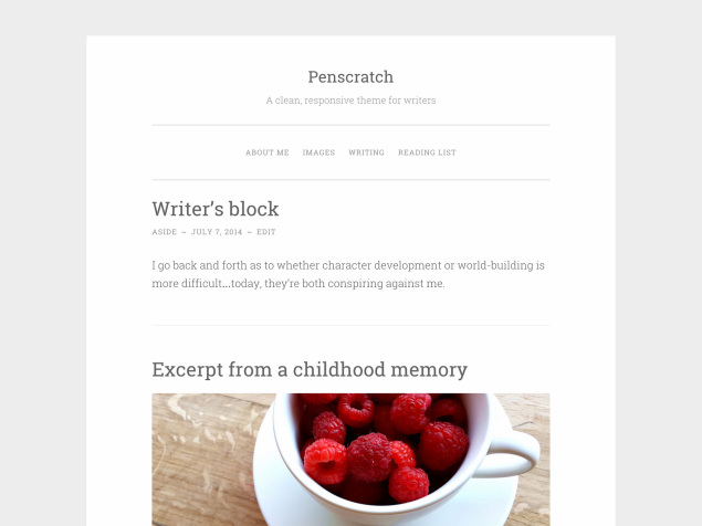 Nuovo tema WordPress: Penscratch