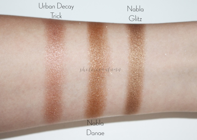 nabla-goldust-swatches-danae-eyeshadows